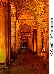 The Basilica Cistern - Yerebatan Sarnici - Columns of The...