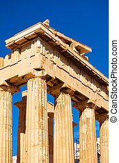 Columns of the Parthenon temple