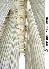 Columns of the US Supreme Court in Washington DC