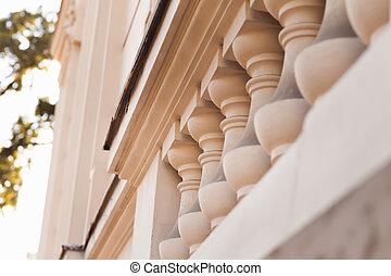 Columns on a facade