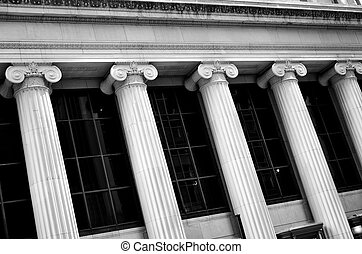 Columns on Building Bank Finance