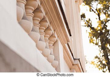 Columns on building facade