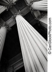 Columns on Building Representing Museum or Court House
