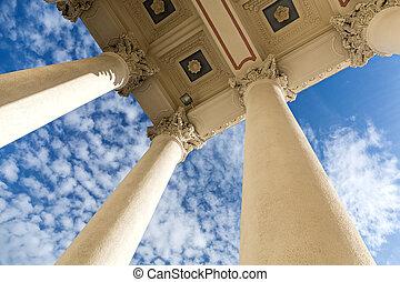 columns on historic building