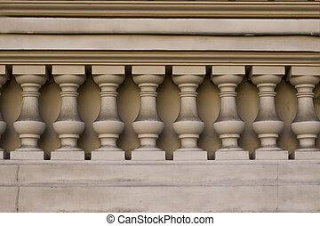 Columns on the facade of house