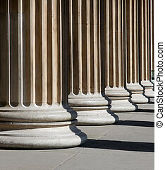 Columns - Stable columns in bright sunlight