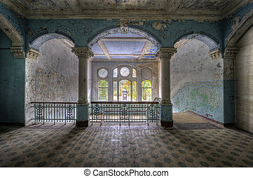 The old hospital complex in Beelitz near Berlin which is abandoned since 1992