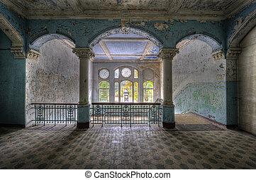 columns - The old hospital complex in Beelitz near Berlin...