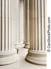 Columns USA - Row of marble columns.