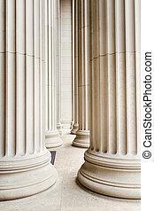 Columns USA - Row of marble columns.