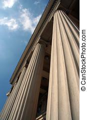 Columns. Vertical lines.