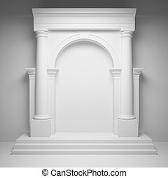 Columns with arch in interior