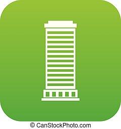 coluna, ícone, digital, verde