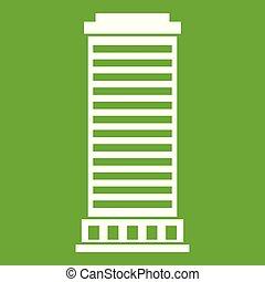 coluna, ícone, verde