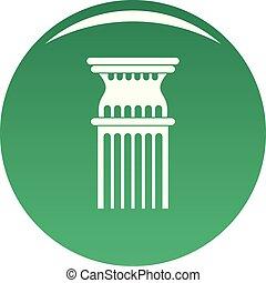 coluna, ícone, vetorial, verde