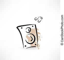coluna, música, grunge, ícone