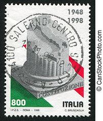 coluna, mapa, itália