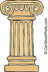 coluna, pedestal