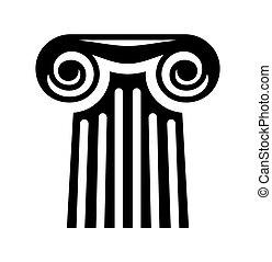 coluna, vetorial, ícone
