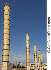 colunas, barcelona, montjuic, espanha