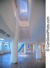colunas, em, corredor