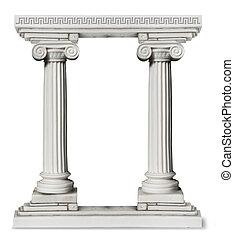 colunas gregas, borda