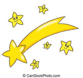comète, étoile