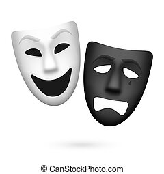 comédia tragédia, máscaras teatrais