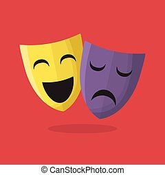 comédie, théâtre, masques tragédie