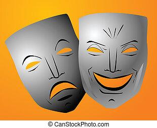 comédie tragédie, masques