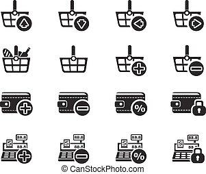 comércio eletrônico, marketing, jogo, ícone