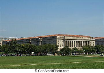comércio,  Hoover,  Washington,  DC, nós,  HERBERT,  exterior, monumento, departamento, visto, predios