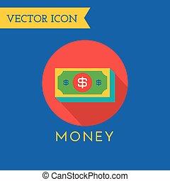 comércio, symbols., loja, ícones, móvel, dinheiro, set., vetorial, desenho, ações, ou, element.