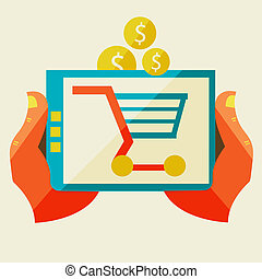 comércio, vário, shopping, eletrônico