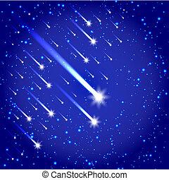 com, estrelas, fundo, espaço