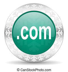 com green icon, christmas button