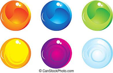 com, lustroso, conceito, com, arco íris