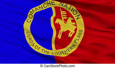 Comanche Nation Indian Flag Closeup Seamless Loop - The...