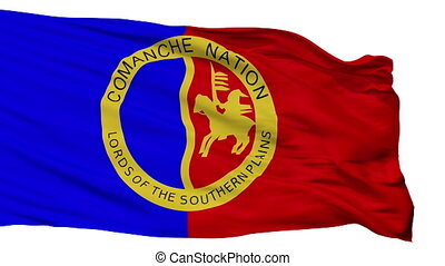 Comanche Nation Indian Flag Isolated Seamless Loop - The...