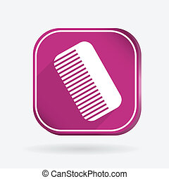comb. barbershop. Color square icon