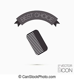 comb. barbershop. symbol of hair and beauty salon