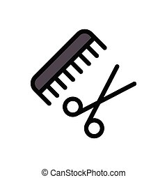 comb flat color icon