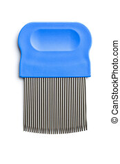 Comb for combing out lice. Isolated on white background.