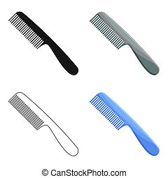 Comb for hair. Barbershop single icon in cartoon style vector symbol stock illustration web.