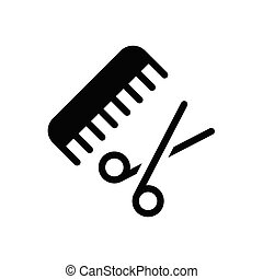 comb glyph flat icon