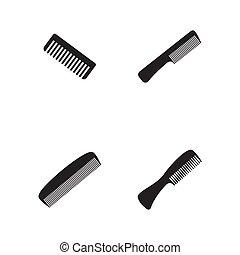 Comb hair Vector icon illustration design