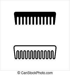 Comb Icon Design Vector Art Illustration