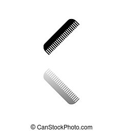 Comb icon flat