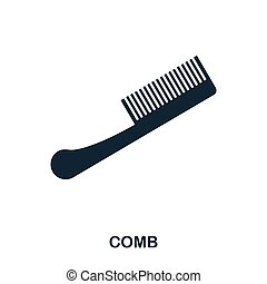 Comb icon. Flat style icon design. UI. Illustration of comb icon. Pictogram isolated on white. Ready to use in web design, apps, software, print.
