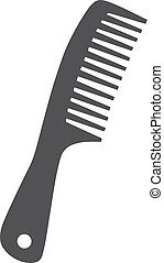Comb icon in black on a white background. Vector illustration